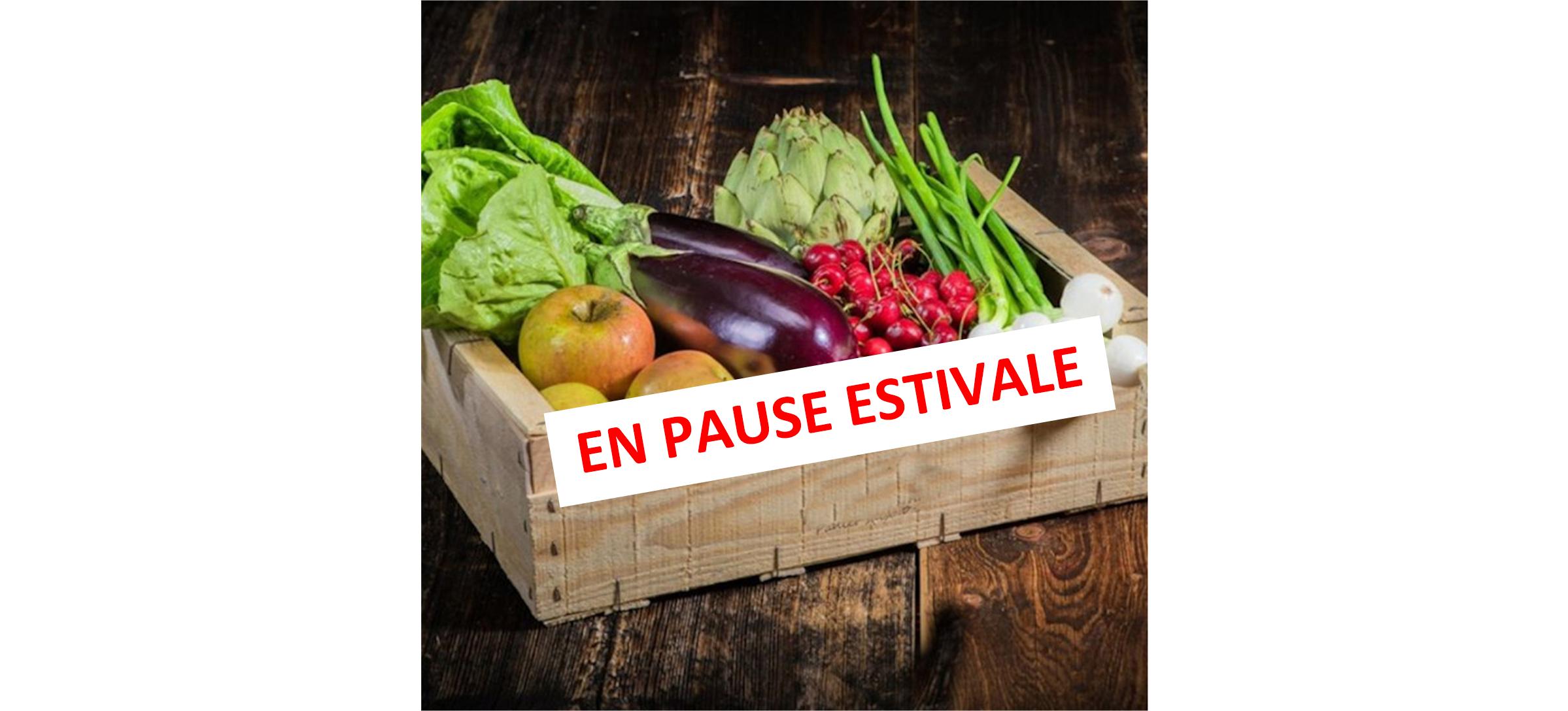 PAUSE ESTIVALE POUR LES PANIERS DE LEGUMES
